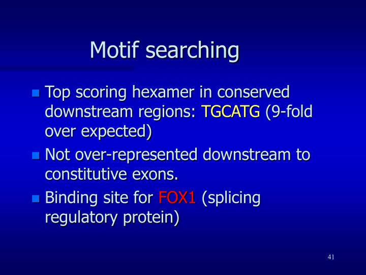 Motif searching