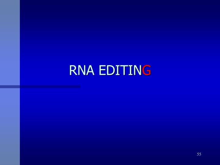 RNA EDITIN