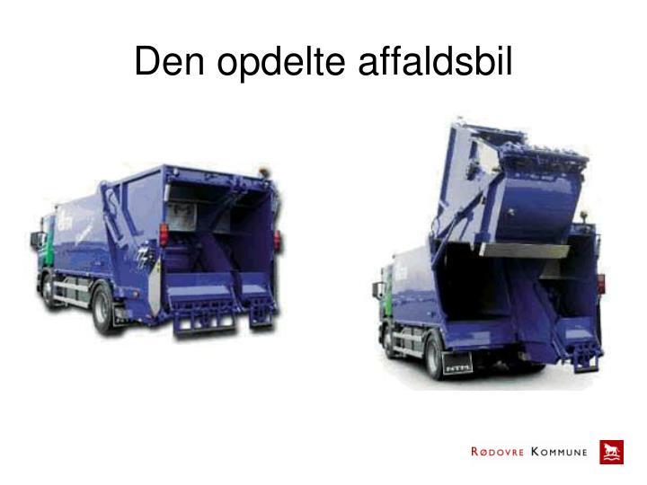 Den opdelte affaldsbil