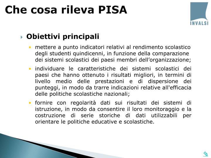 Che cosa rileva PISA