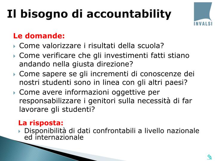 Il bisogno di accountability