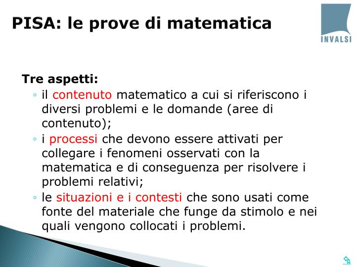 PISA: le prove di matematica