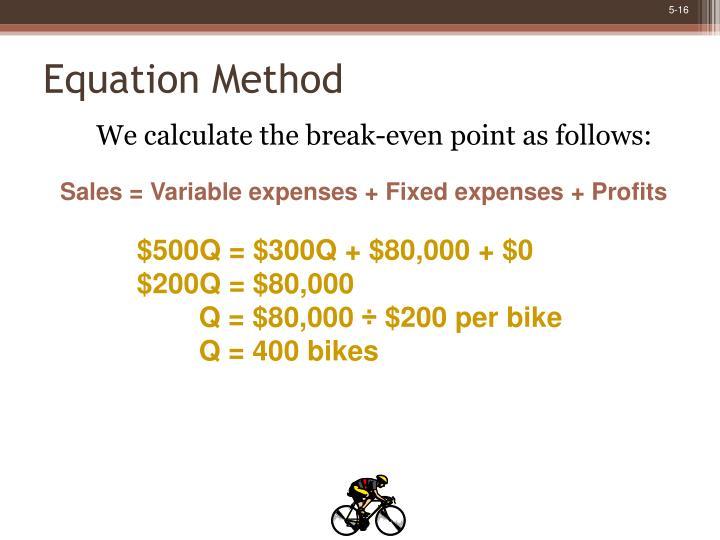 Equation Method