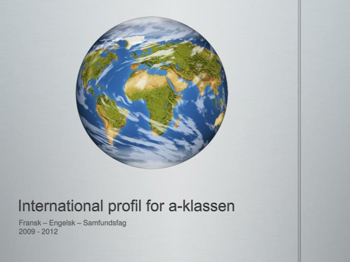 International profil for a klassen