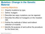 mutation change in the genetic material