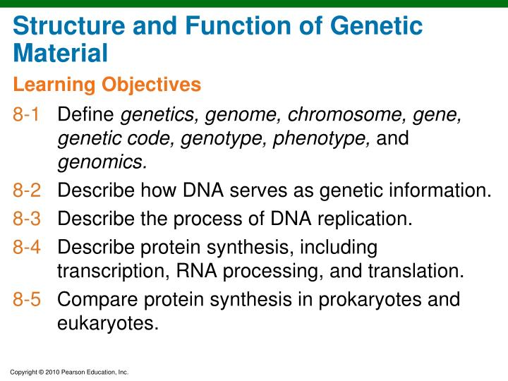 Structure and Function of Genetic Material