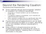 beyond the rendering equation fluorescence and phosphorescence