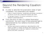 beyond the rendering equation polarization1