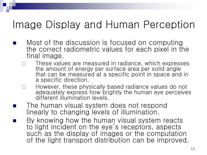 Image Display and Human Perception