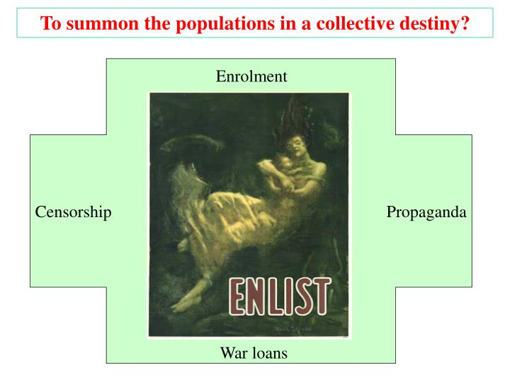 To summon the populations in a collective destiny?