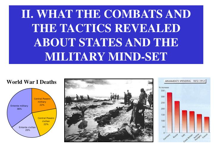 II. WHAT THE COMBATS AND THE TACTICS REVEALED ABOUT STATES AND THE MILITARY MIND-SET