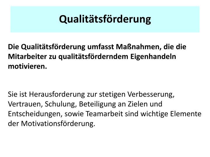 Qualitätsförderung