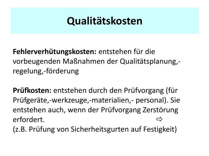 Qualitätskosten