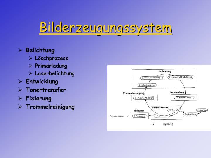 Bilderzeugungssystem