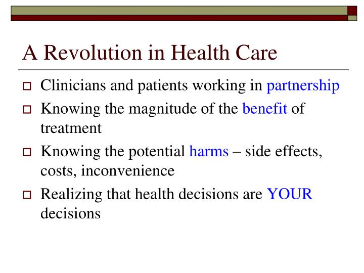 A Revolution in Health Care
