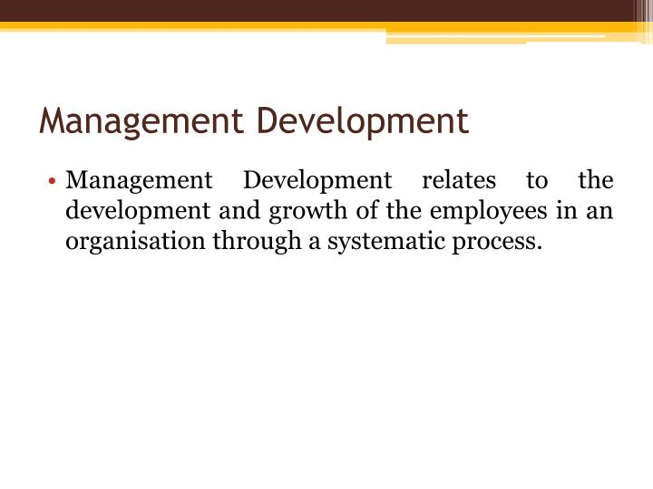 Management development1