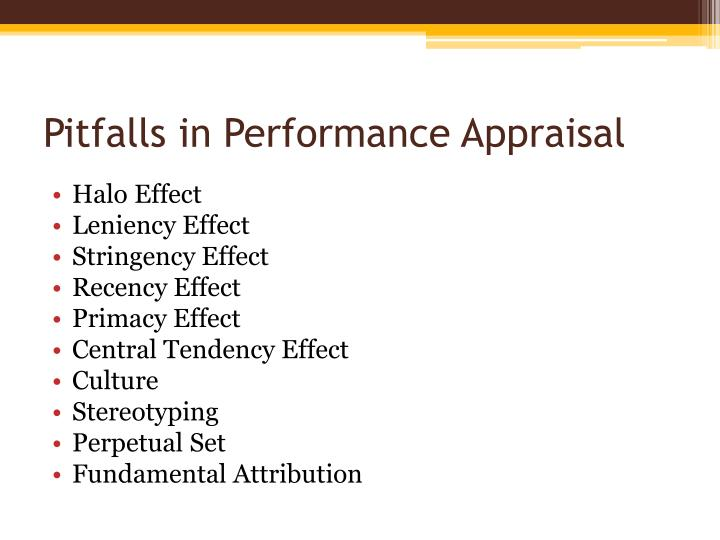 Pitfalls in Performance Appraisal