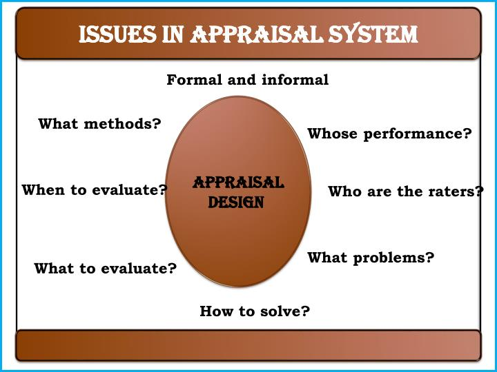 Issues in appraisal system