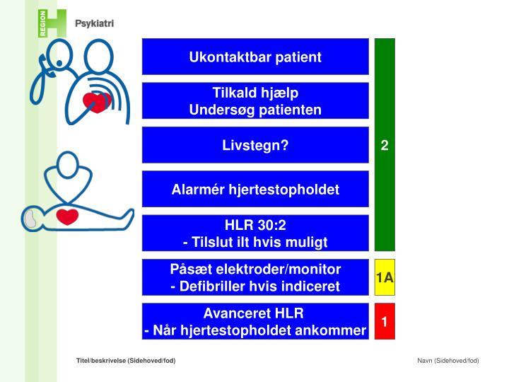 Ukontaktbar patient