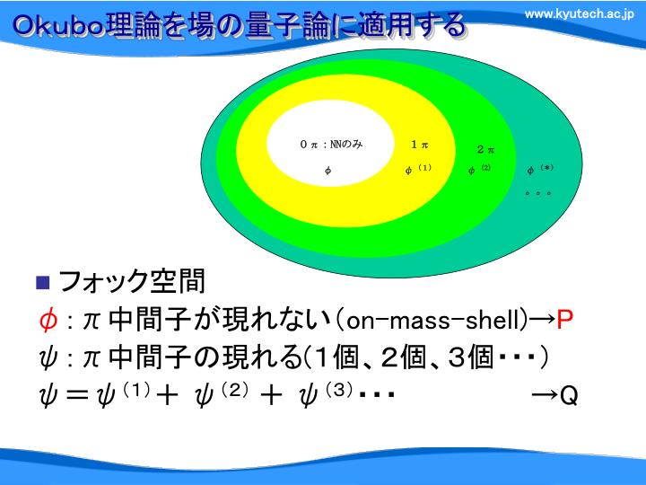 Okubo理論を場の量子論に適用する