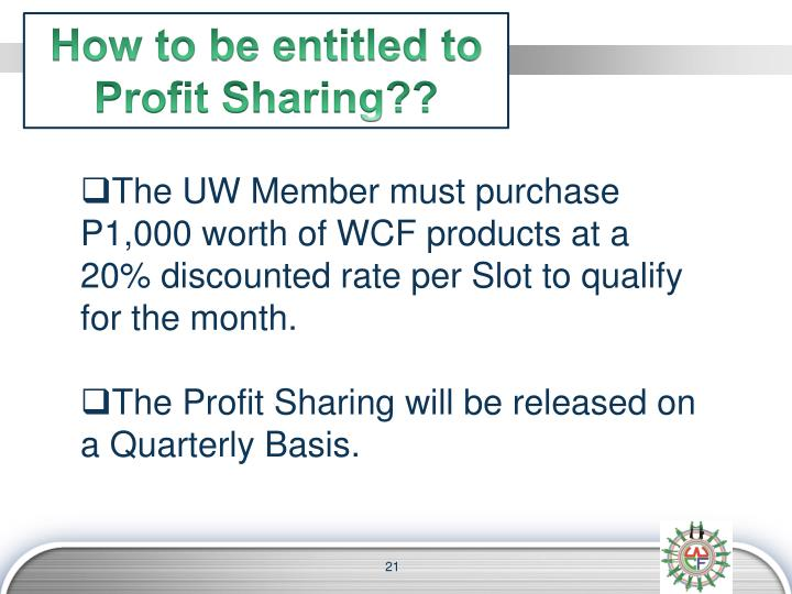 How to be entitled to Profit Sharing??