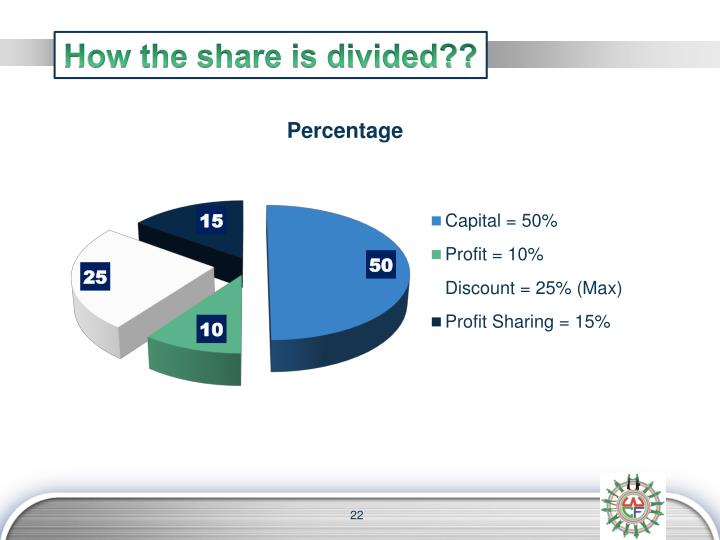 How the share is divided??