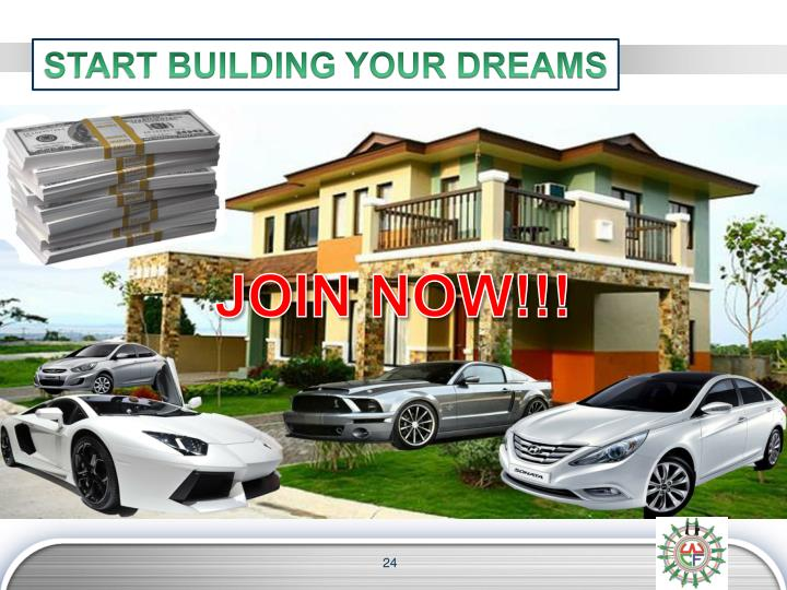 START BUILDING YOUR DREAMS