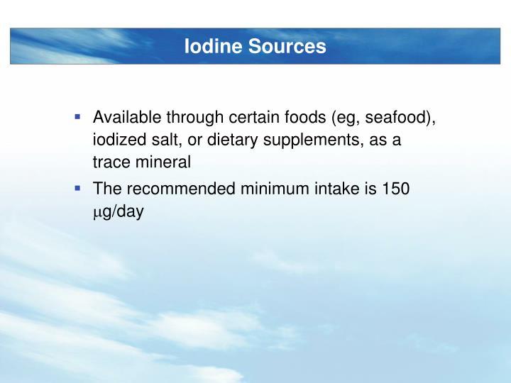 Iodine Sources