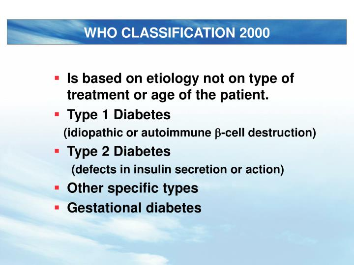 WHO CLASSIFICATION 2000