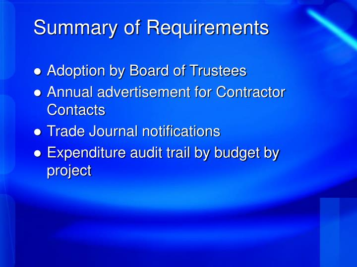 Adoption by Board of Trustees