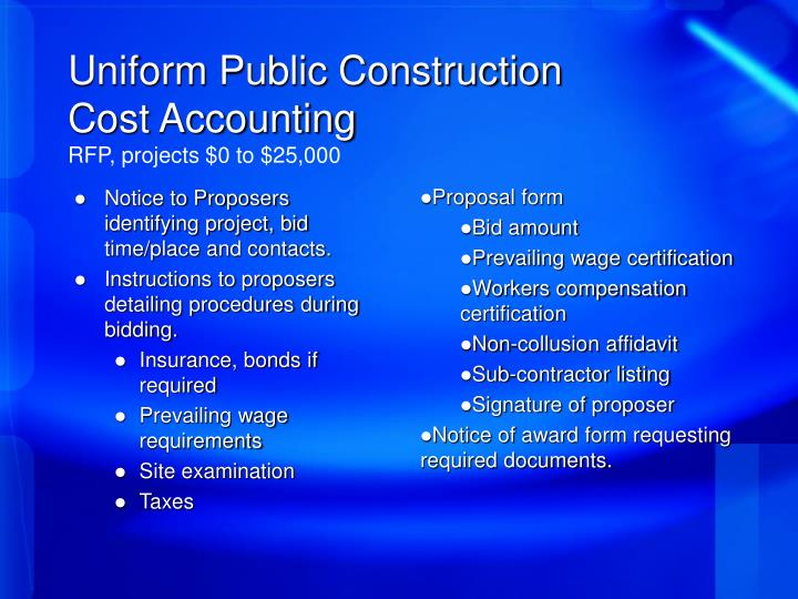 Uniform Public Construction