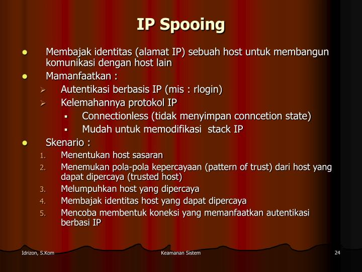 IP Spooing