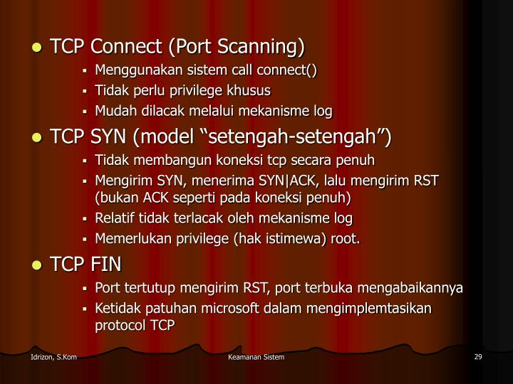 TCP Connect (Port Scanning)
