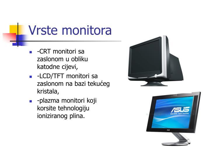 Vrste monitora