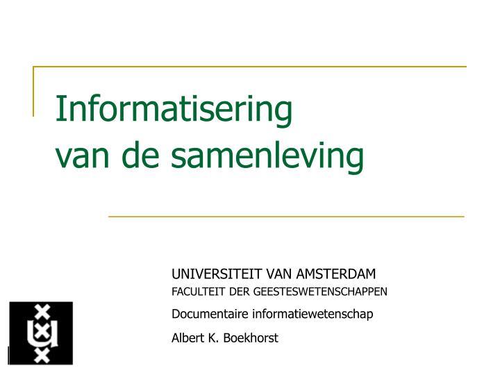 Informatisering