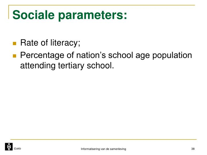 Sociale parameters: