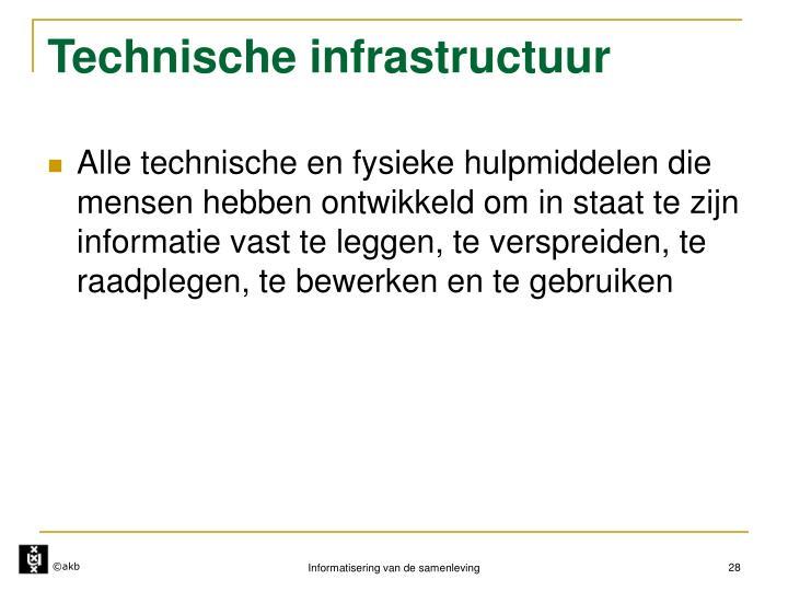 Technische infrastructuur