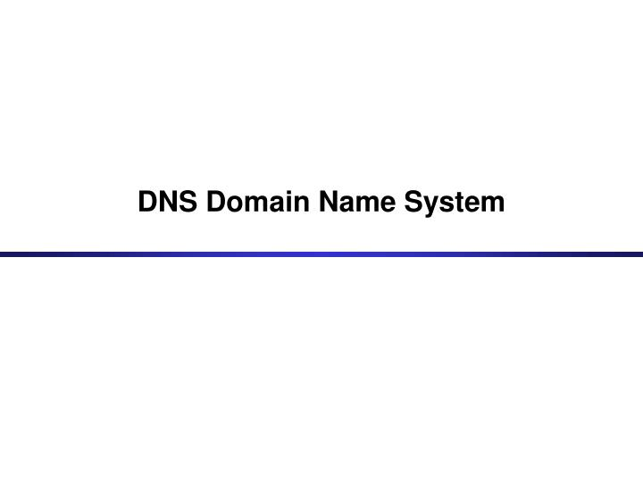 Dns domain name system