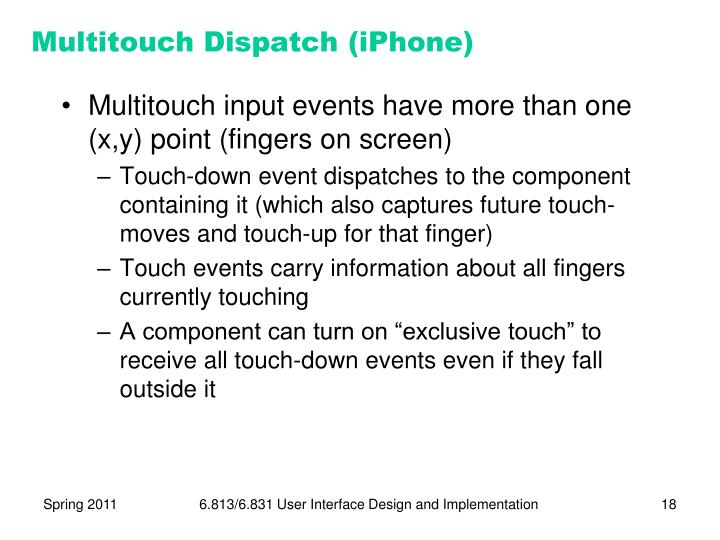 Multitouch Dispatch (iPhone)