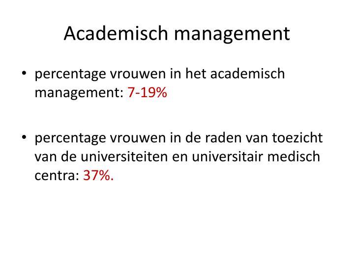 Academisch management