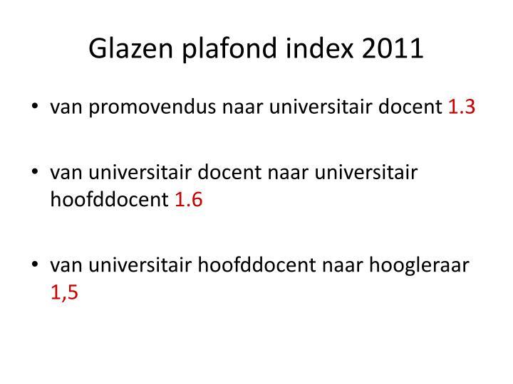 Glazen plafond index 2011