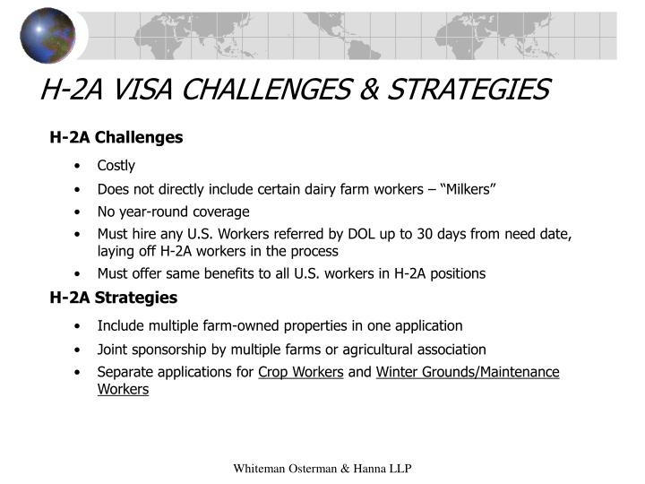 H-2A VISA CHALLENGES & STRATEGIES