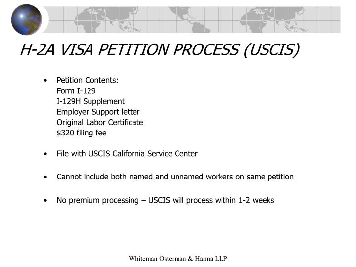 H-2A VISA PETITION PROCESS (USCIS)