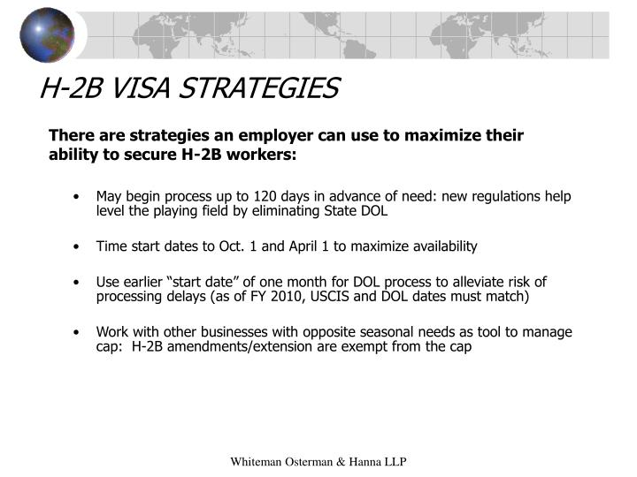 H-2B VISA STRATEGIES