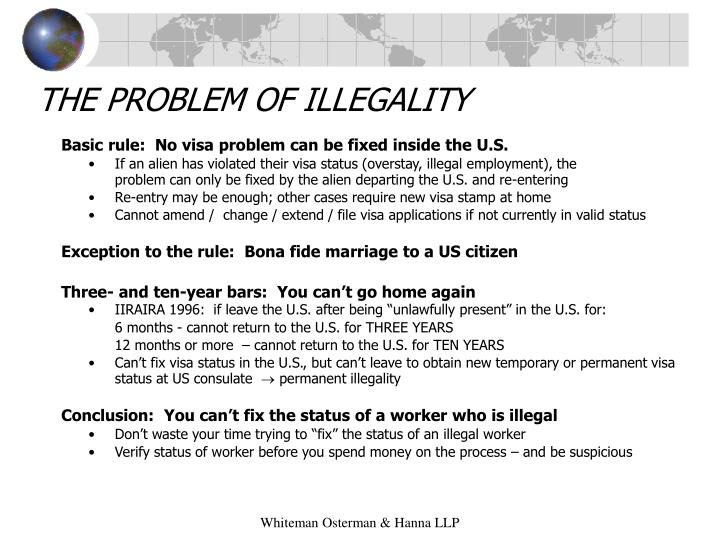 The problem of illegality