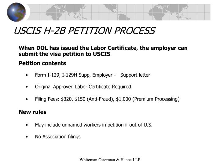 USCIS H-2B PETITION PROCESS