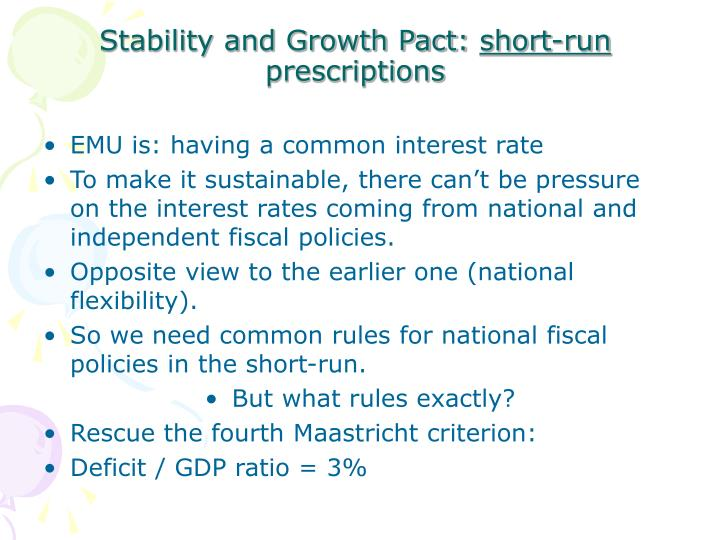 Stability and Growth Pact: