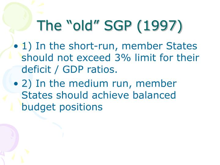 "The ""old"" SGP (1997)"