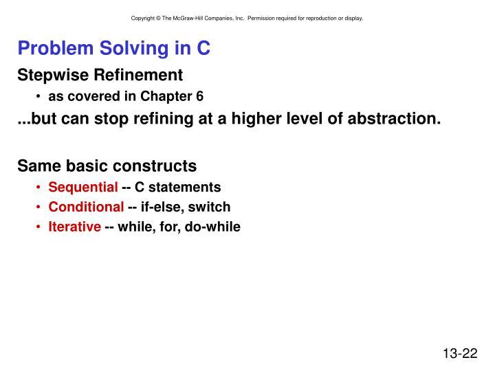 Problem Solving in C