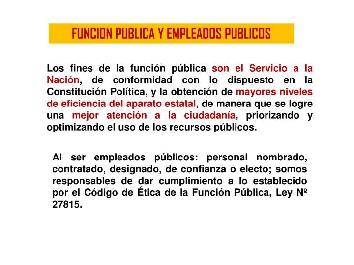 FUNCION PUBLICA Y EMPLEADOS PUBLICOS
